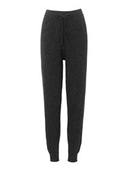 Whistles Cashmere Tweed Jogger Grey