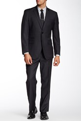 English Laundry Trim Fit Wool Suit Charcoal