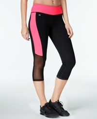 Ideology Mesh Trimmed Cropped Leggings Only At Macy's Flashmode