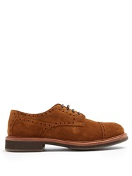 Brunello Cucinelli Lace Up Suede Brogues Brown
