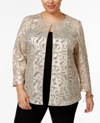 Jm Collection Plus Size Faux Leather Jacket Only At Macy's Gold Lurex