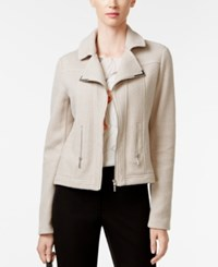 Alfani Textured Knit Moto Jacket Only At Macy's French Stone