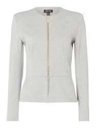 Episode Peplum Jersey Jacket Grey Marl