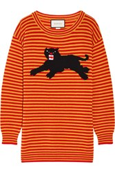 Gucci Intarsia Wool Sweater Orange