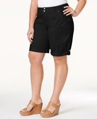 Inc International Concepts Plus Size Poplin Shorts Only At Macy's