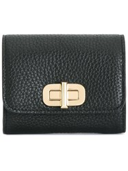 Michael Michael Kors Gold Tone Hardware Wallet Black