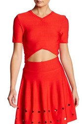 Opening Ceremony V Neck Crop Top Red