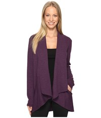 Lucy Tranquility Slub Wrap Blackberry Heather Women's Sweater Purple