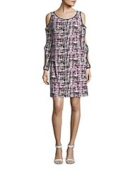Laundry By Design Printed Cutout Dress Festival Fuchsia