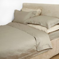 Yves Delorme Triomphe Sateen Duvet Cover Pierre Beige