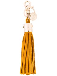 See By Chloe Tassel Keyring Yellow Orange