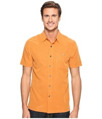Royal Robbins Mojave Desert Pucker S S Marmalade Men's Short Sleeve Button Up Orange