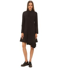 Yohji Yamamoto Wren Dress Black Core White Women's Dress