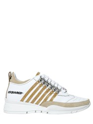 Dsquared 40Mm 251 Glitter And Leather Sneakers