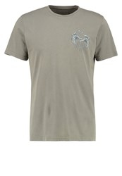 Billabong Warlock Tocayo Tailored Fit Print Tshirt Pewter Ochre