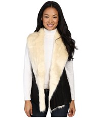 Fate Faux Fur Vest Black Women's Vest