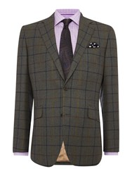 Chester Barrie Tailored Fit Jacket Check Green