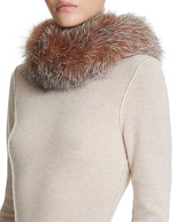 Surell Fox Fur Scarf Crystal