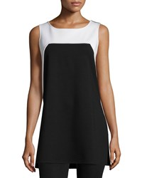 Josie Sleeveless Colorblock Tunic Black