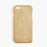 J.Crew Glitter Case For Iphone 6 6S Metallic Gold