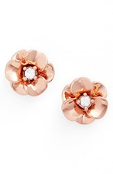 Kate Spade Women's New York Shine On Flower Stud Earrings Rose Gold