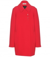 Balenciaga Embellished Wool Coat Red