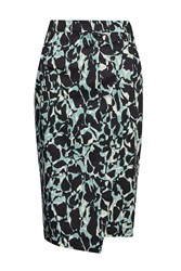 Great Plains Silhouette Asymmetric Hem Skirt Green