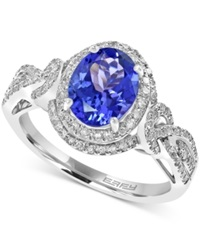 Effy Collection Effy Tanzanite 1 3 4 Ct. T.W. And Diamond 1 3 Ct. T.W. Ring In 14K White Gold