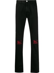 Raf Simons Knee Embroidery Slim Fit Jeans 60