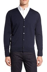 John Smedley Men's 'Bryn' Easy Fit Wool Button Cardigan Midnight
