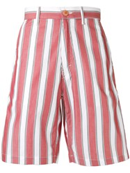 Stella Mccartney Pajama Striped Shorts Red
