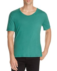 Alexander Wang T By Cotton Scoop Neck Tee Cash Green