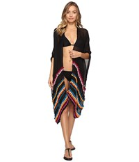 Bindya Pom Pom Kimono Black Women's Clothing