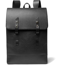 Miansai Textured Leather Backpack Black