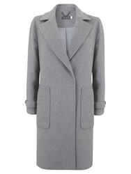 Mint Velvet Oversized Coat Grey
