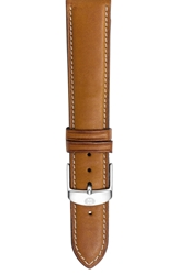 Michele 18Mm Leather Watch Strap Saddle