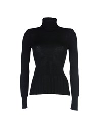 Blue Les Copains Knitwear Turtlenecks Women Black