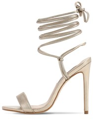 Steve Madden 120Mm Metallic Faux Leather Sandals Gold