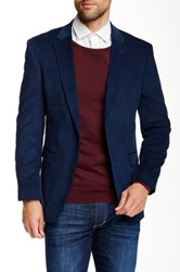 Tommy Hilfiger Willow Two Button Notch Lapel Corduroy Sportcoat Blue