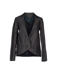 Amy Gee Suits And Jackets Blazers Women Steel Grey