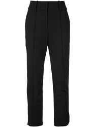 Veronica Beard Cropped Tapered Trousers Black