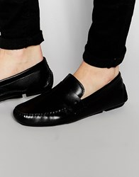 Red Tape Penny Loafer In Black Leather