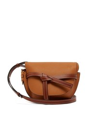 Loewe Gate Small Grained Leather Cross Body Bag Tan