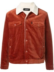 Undercover Ribbed Trucker Jacket Red