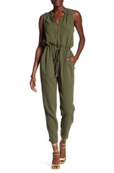 Rebecca Taylor Double Gauze Jumpsuit Green