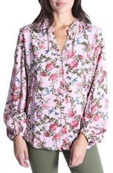Kut From The Kloth Elenie Floral Top Dusty Rose