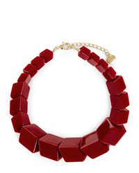 Jaeger Renee Resin Cube Necklace Red