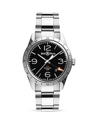 Bell And Ross Br 123 Gmt 24H Watch 42Mm Black Silver