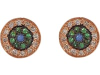Ileana Makri Women's Multi Gemstone And Pink Gold No Tears Studs No Color