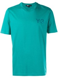 Y 3 Logo T Shirt Green